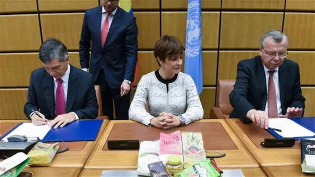 United Nations, Colombia sign major anti-cocaine pact