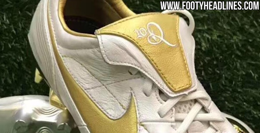 White   Gold Nike Tiempo Legend Ronaldinho 2018 Boots Leaked - 7 New  Pictures 0297068cd
