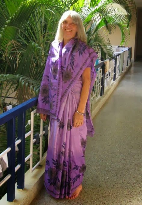 Michelle (Shellie) Wood, author of Pilgrimage To India & curator here at Kirtan Community