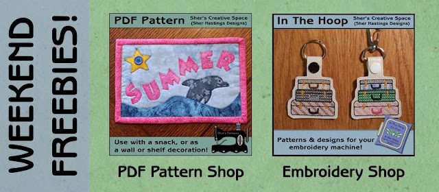 Freebie Weekend! Mug Rug and Key Fob Patterns