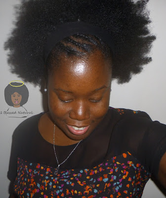 natural hair, afro and cornrows