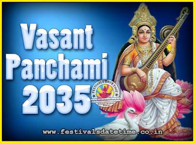 2035 Vasant Panchami Puja Date & Time, 2035 Vasant Panchami Calendar