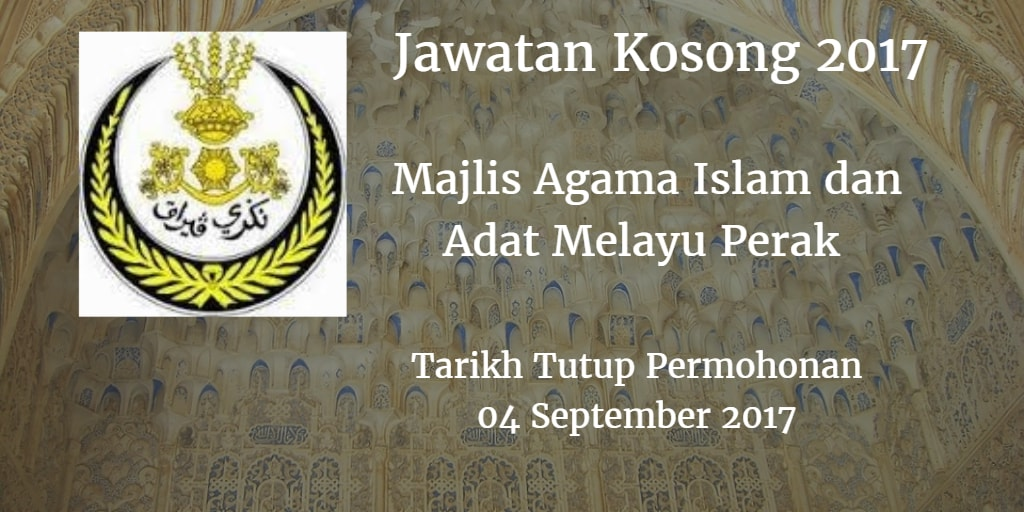 Jawatan Kosong MAIPK 04 September 2017