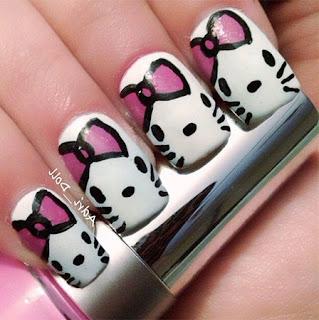 Gambar Nail Art Hello Kitty yang Cantik 4