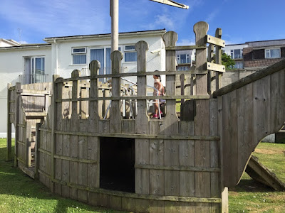 Outdoor pirate play area