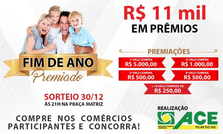 d276e2d08877f A Associação Comercial e Empresarial (ACE) e 73 comércios de Pilar do Sul  estão promovendo a campanha  Fim de Ano Premiado  2017.