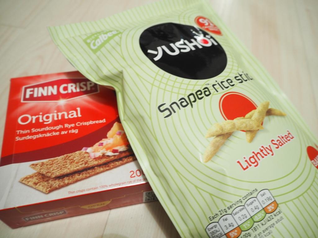 finn crisp crispbread yushoi snapea rice snacks
