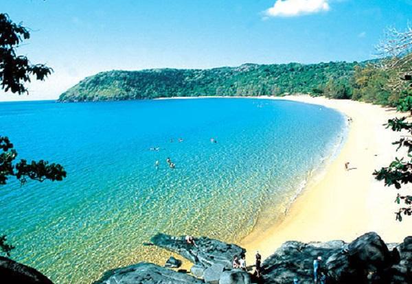 beach in con dao island in vietnam