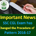 SSC CGL-2016 Pattern Changed Tier I Exam Date 27-Aug-16