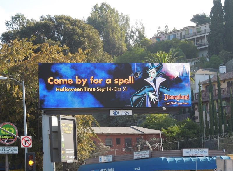 Maleficent Disneyland Halloween 2012 billboard