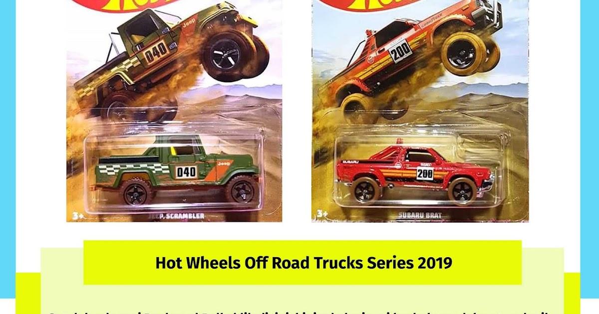 2019 Hot Wheels Off Road Trucks Set Of 6 Walmart Exclusive Baja Racing