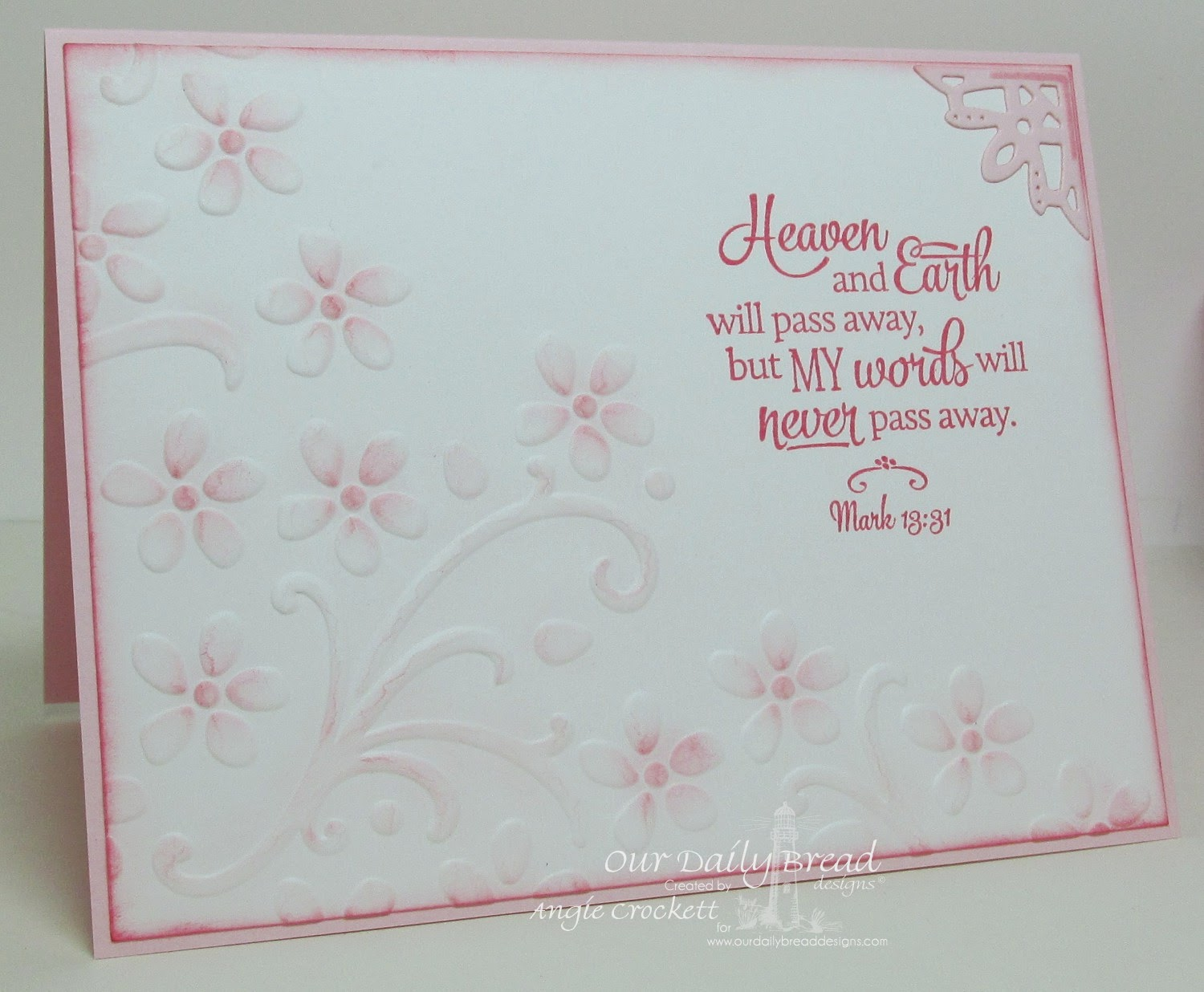 ODBD Scripture Collection 12, ODBD Custom Ornate Borders and Flower Die Set, Card Designer Angie Crockett