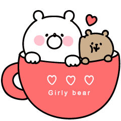 *Animated* Girly Bear cuddly