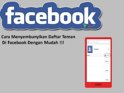 Cara Menyembunyikan Daftar Teman Facebook Dengan  Mudah