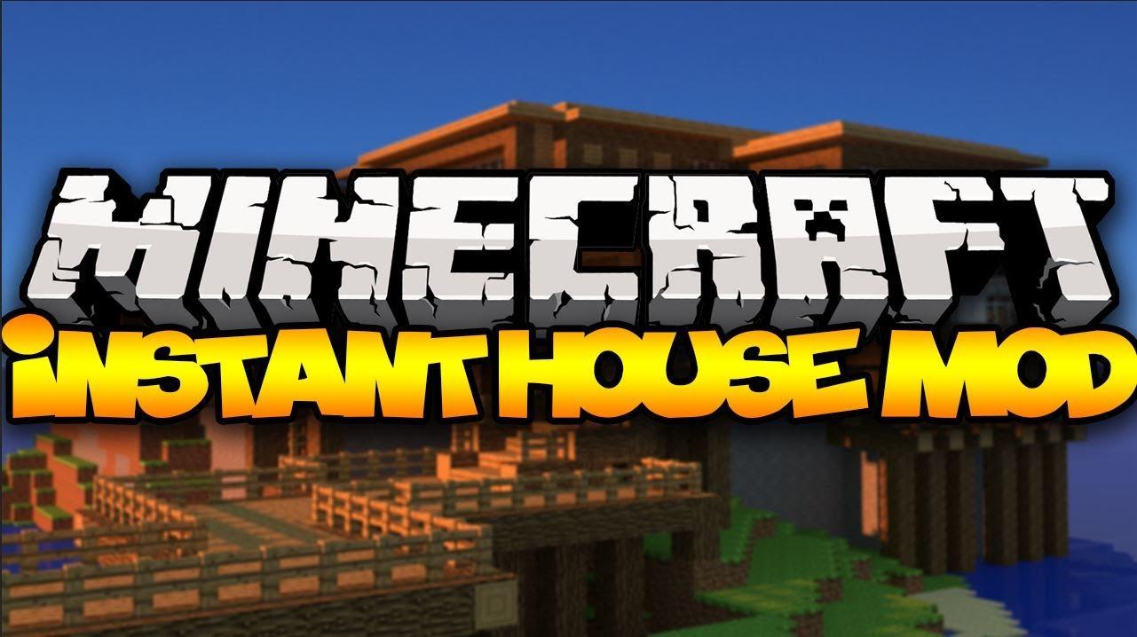 Minecraft: Insta House Mod 11.11.111 (Construções Instantâneas)