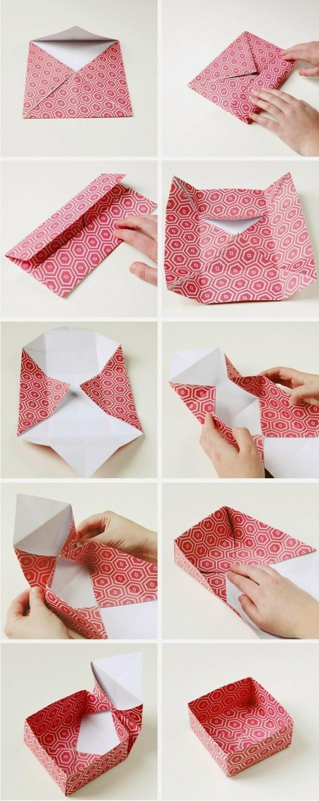 折り方 a4 紙 箱 折り方 : Origami Gift Boxes DIY