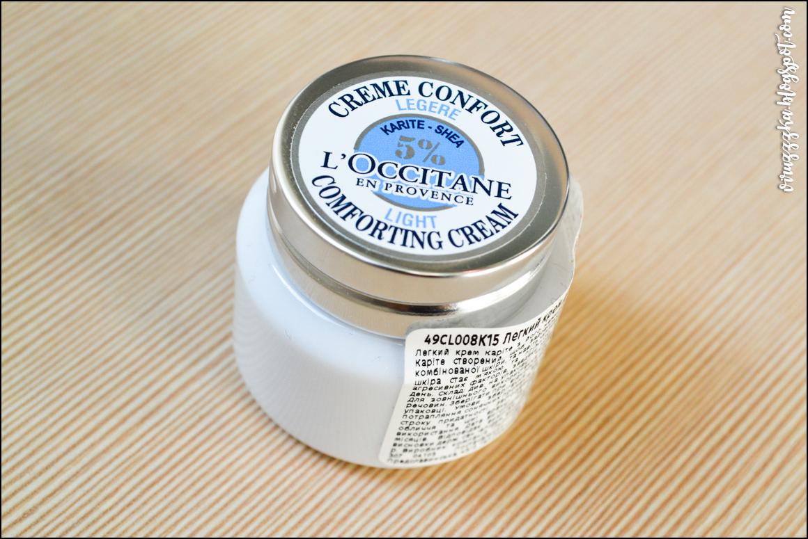 Легкий крем-комфорт для лица карите L'Occitane отзыв