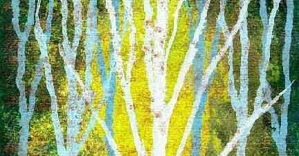 A Light in the Forest - a mixed media painting tutorial
