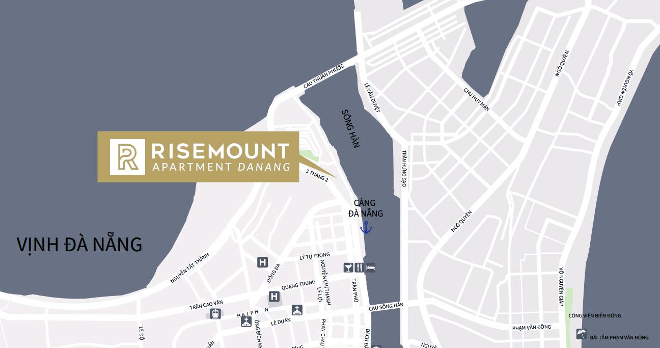 Vị trí đắc địa Risemount Apartment