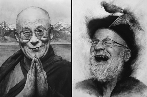 00-Liu-Ling-Faces-of-Writers-in-Charcoal-Drawings-www-designstack-co