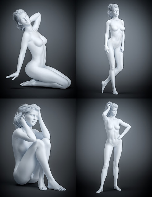 Model 101 Poses and Expressions for Genesis 8 Female