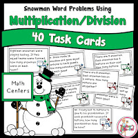 40 Word Problems using Multiplication and Division