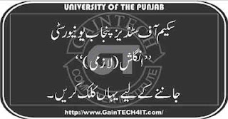 Scheme of Studies English (Comp.) Punjab University