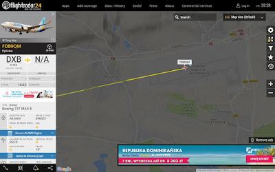 Pierwszy lot Dubaj - Kraków