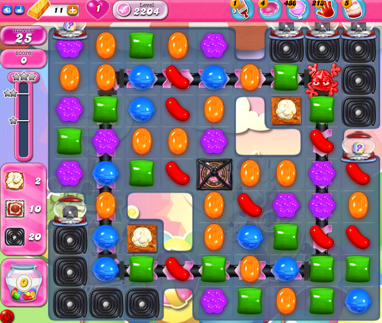 Candy Crush Saga level 2204