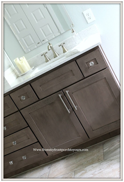 Master Bathroom Makeover-Reveal-Cottage Style-French-Farmhouse-French Country-Cabinet Hardware-Sherwin Williams Sea Salt-From My Front Porch To Yours