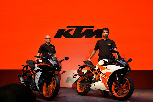 KTM launches 2017 RC390 and RC200