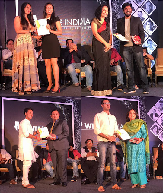 Write India book launch winners Samah Visaria Rohit Tandeka Vasudha Chandna Roshan Radhakrishnan