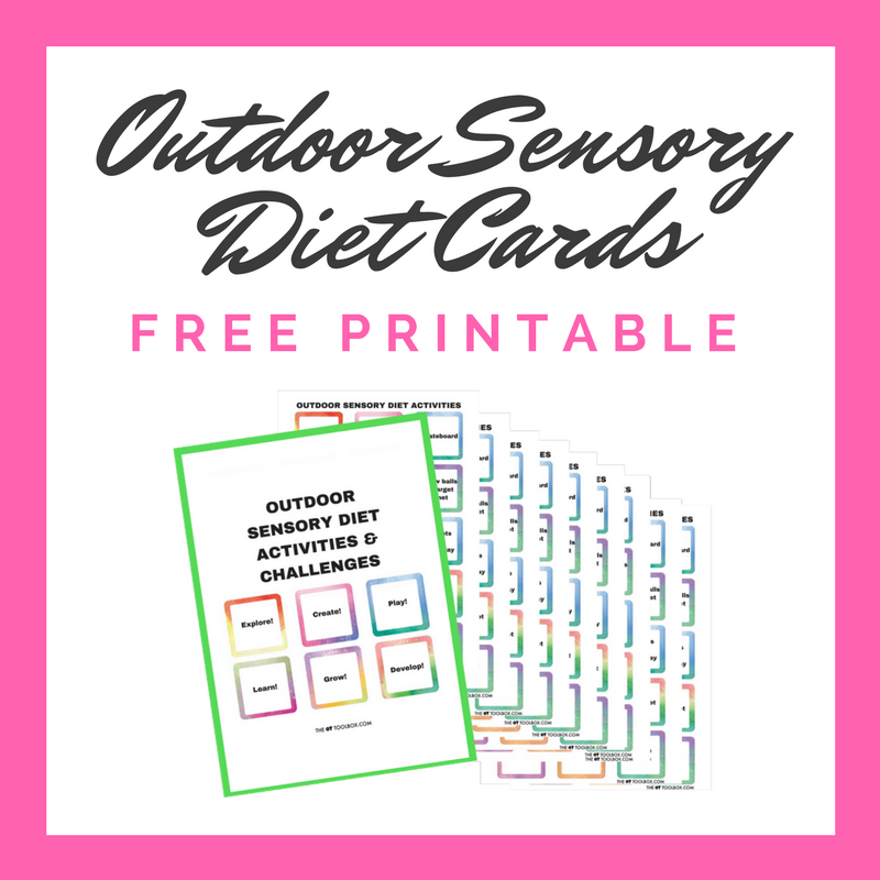 Free outdoor sensory diet cards