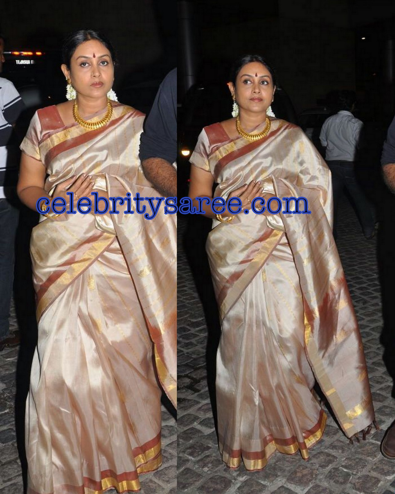 Ponvannan: Saranya Ponnavan In Traditional Silk Saree At 58th Film