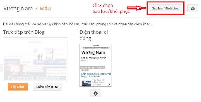 sao luu template blogspot