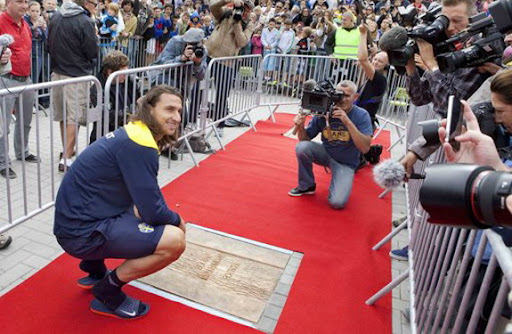 Zlatan Ibrahimović is honoured with his name at the Walk of Fame in his hometown Malmö