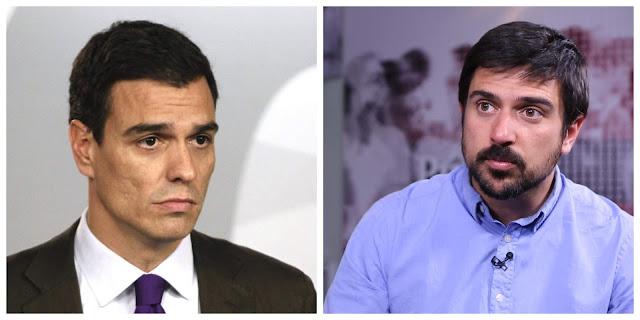 Pedro Sánchez y Ramón Espinar