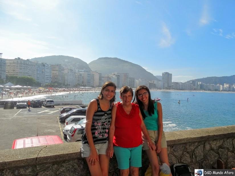 Vista da Praia de Copacabana lá do Forte de Copacabana - Rio de Janeiro