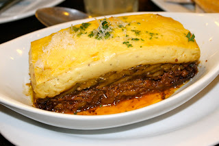 moussaka at Cyma Restaurant