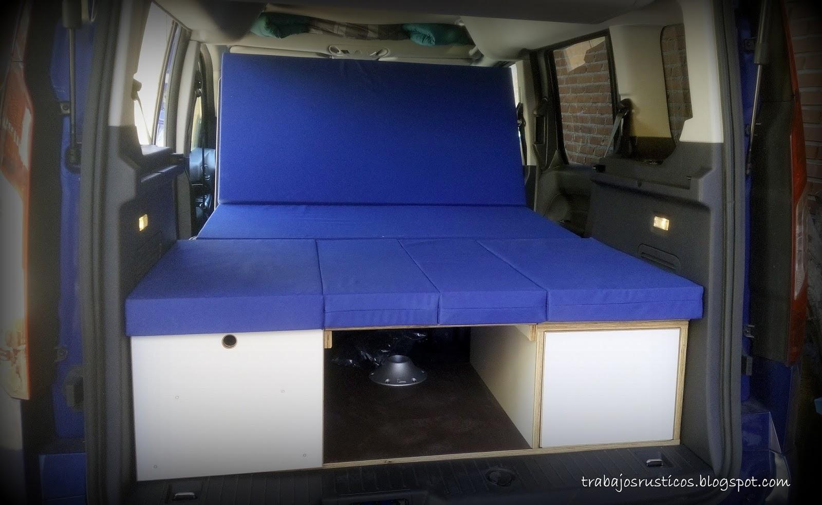 trabajos r sticos modulo camper ford tourneo connect. Black Bedroom Furniture Sets. Home Design Ideas