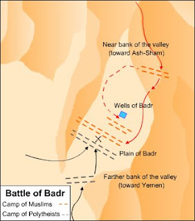 Perang Badar - Perang yang diabadikan dalam Alquran - Posisi