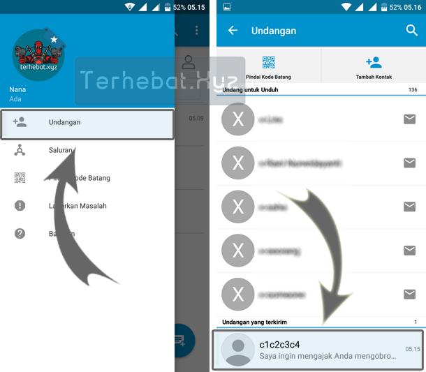 cara membatalkan undangan bbm di Android