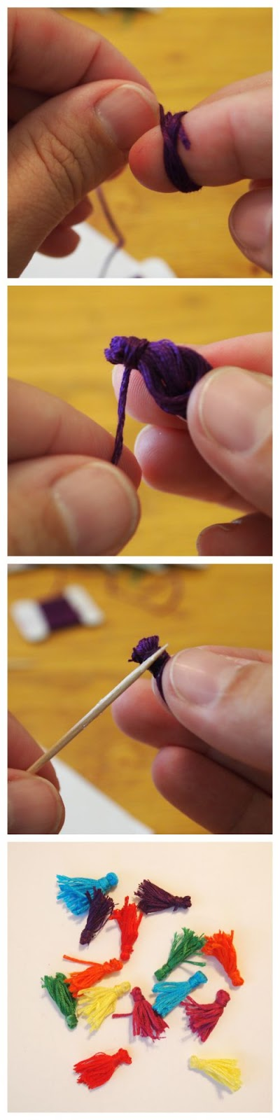 How to make mini tassels with @mvemother