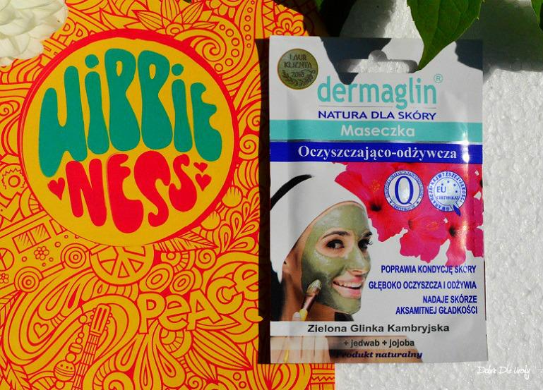 ShinyBox Hippieness - Dermaglin Maseczka oczyszczająco-odżywcza z Zieloną glinką Kambryjską, Jedwabiem i olejkiem Jojoba