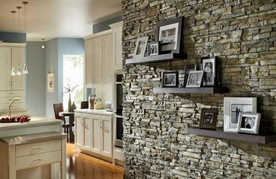 Rumah Minimalis Modern Dengan Konsep Menonjolkan Tampilan Batu Alam