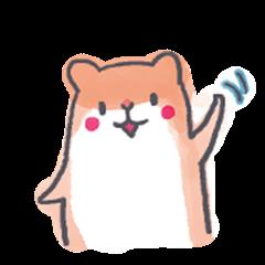 Watercolor Hamster Sticker
