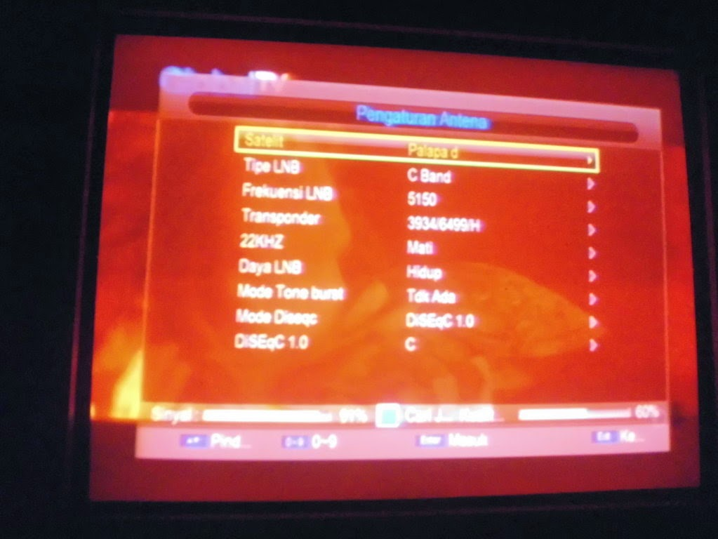Cara tracking Sinyal SCTV dan Indosiar Mpeg2