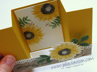 VIDEO: Bridge Card Tutorial with Stampin' Up! Painted Harvest ~ 2017 Holiday Cataog ~ www.juliedavison.com