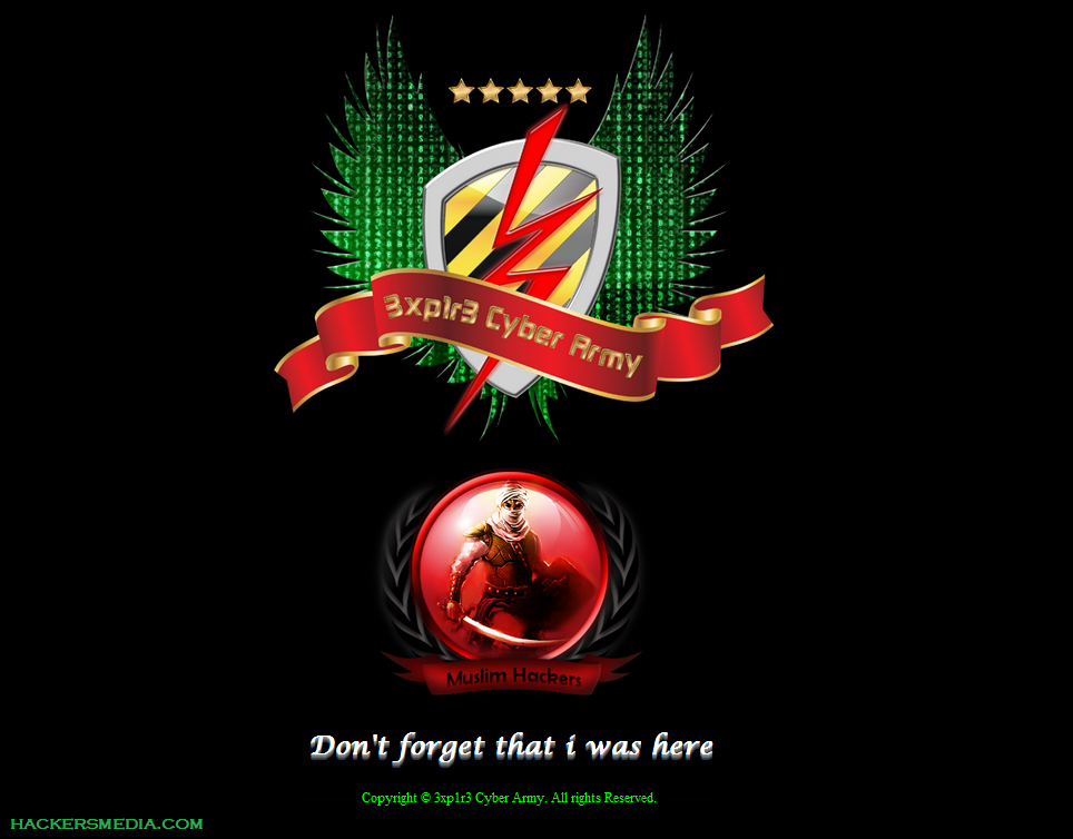80+ Sites Hacked By rEd X - 3xp1r3 Cyber Army ~ The Hackers Media