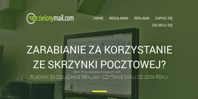 ZielonyMail - nowa szata graficzna, nowy baner reklamowy, zarabianie